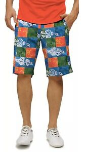 Loudmouth-Golf-Shorts-Mens-32-Patch-Hawaiian-Patchwork-Kapalua