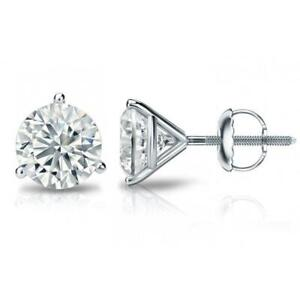 Platinum-Martini-settings-Round-Diamond-earrings-G-VVS2-1-80-ct-No-Refunds