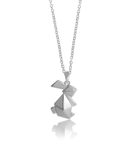 NEW Bunny origami necklace Women's by Bowerbird Australia