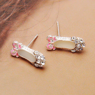 Women Elegant  Earring Stud Various Design 8MM Shamballa Ball Crystal Rhinestone