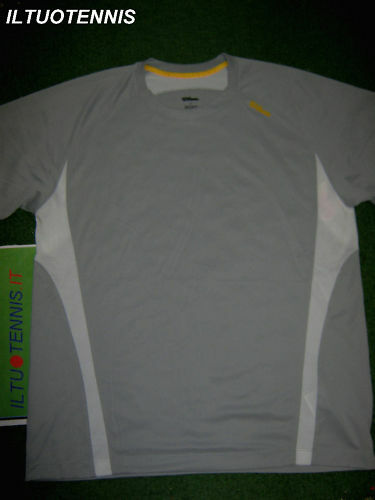 T-SHIRT tennis WILSON FEDERATION SQUARE -TG.L-SPED.INCL