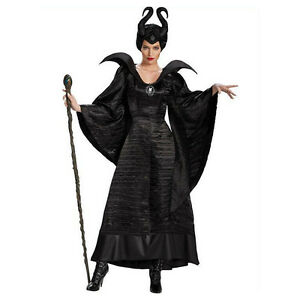 Sleeping Beauty Witch Maleficent Costume Women Cosplay Fancy Dress With Horn