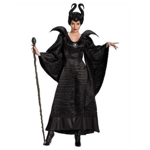 PLUS Size Malefica Costume Nero Abito Strega Adulto Party Costume