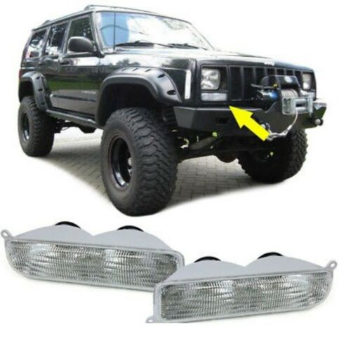 Front Clignotant Blanc-Paire pour Jeep Cherokee XJ 97-01
