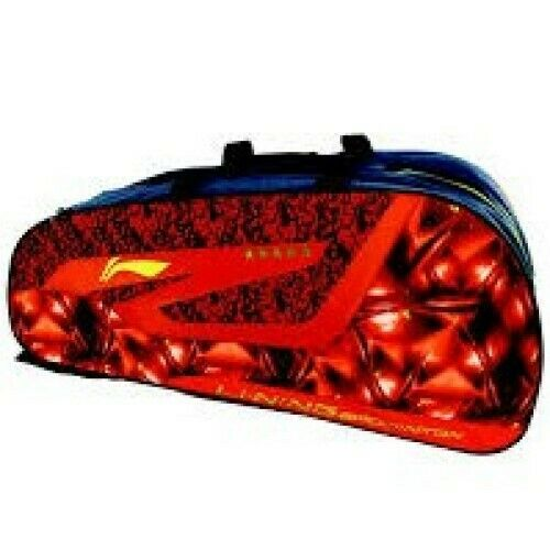 Li Ning 12 in 1 Badminton Kit Bag, ABDDN182-2, rot, Limited Quantity