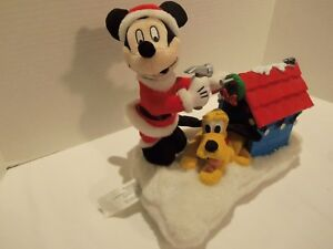 DISNEY-SANTA-MICKEY-MOUSE-PLUTO-SINGING-BARKING-CHRISTMAS-LIGHT-UP-TOY-RARE