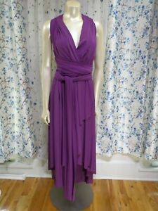 Dressy-Group-Bridesmaid-2X-Multiway-Wrap-dress-Purple-high-low
