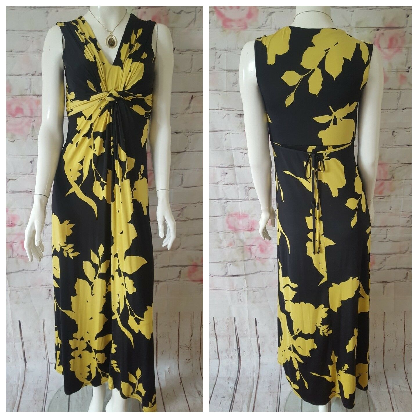 DEBENHAMS,UK10,LADIES BEAUTIFUL SUMMER HOLIDAY LONG DRESS,IN GREAT CONDITION
