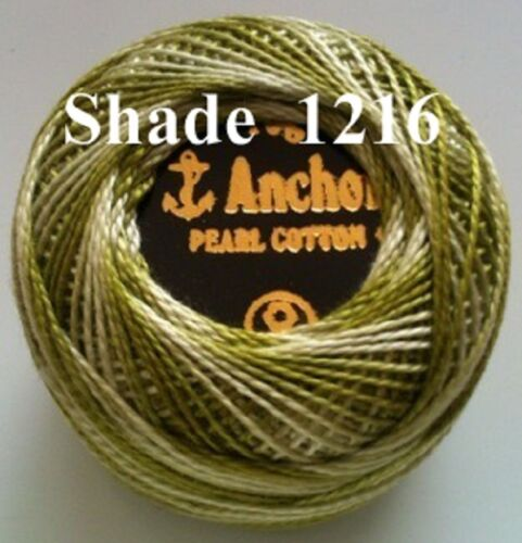1 ANCHOR Pearl Cotton Ball Variegated Crochet Embroidery Thread.1 Flat//Free Pstg
