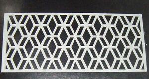 Geometric Pattern design 2  Cake decorating stencil 5 inch Mylar Polyester Film