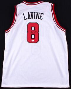 983f4c24d916 Zach LaVine Signed Chicago Bulls White Jersey (JSA COA) 2x NBA Slam ...