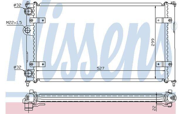 NISSENS Radiador, refrigeración del motor para VW SEAT IBIZA CORDOBA 639951