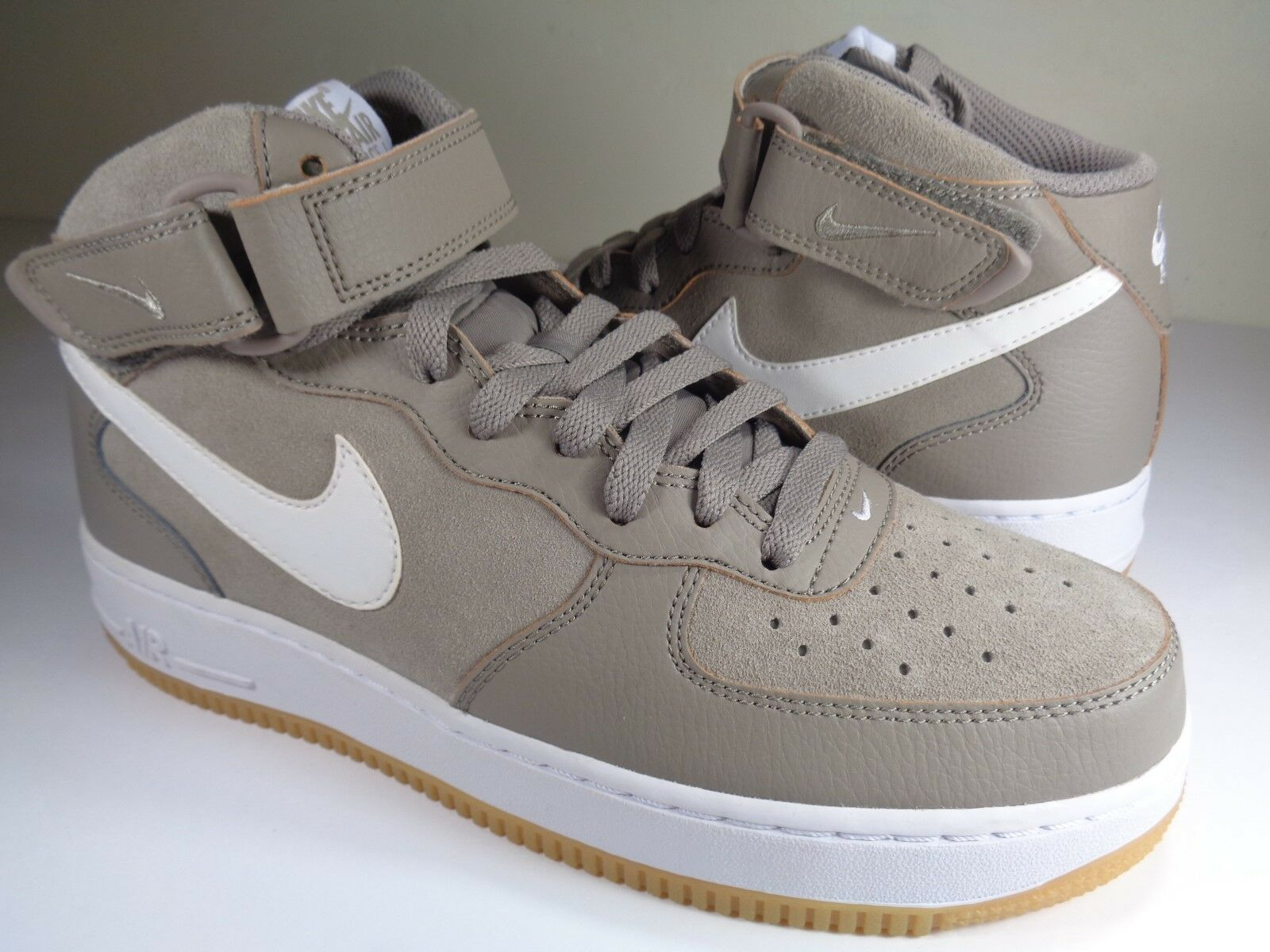Nike Air Force 1 Mid '07 Light Taupe 9 White Gum Brown SZ 9 Taupe (315123-204) a1e390