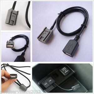 usb female cable aux adaptor port for 2008 onwards honda. Black Bedroom Furniture Sets. Home Design Ideas