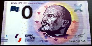 0 euro Souvenir Billet Schein POLYMER Lenin 1870-1924 Portrait 2021