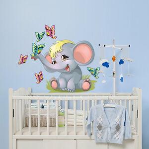 R00057 Wall Stickers Adesivi Murali Bambini Buongiorno elefantino ...