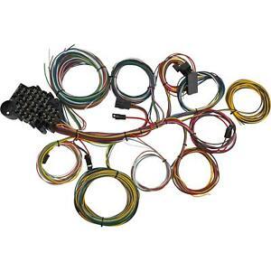 22 Circuit Universal Wiring Harness Loom Eazy Wiring Suit Hot Rod Rat Rod Ebay