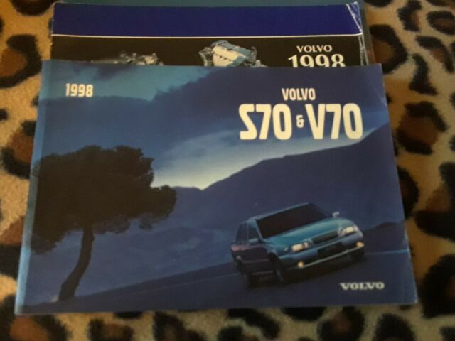 1998 Volvo S70 V70 Car Owners Manual Warranty And Service