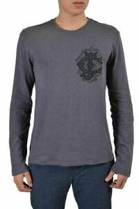 Just Cavalli Homme Gris Ras Du Cou T-Shirt US 2XL It 56
