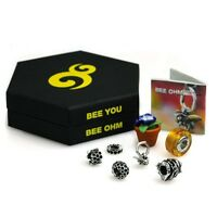 Sterling Silver Six Bead Set Of Ohm Bee You Beads