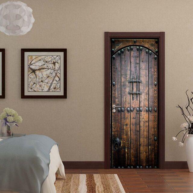 3D Warning Danger Wood Door Murals Photo Wall Sticker Wallpaper Room Home Decor For Sale Online   EBay
