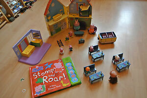 Peppa-Pig-Toys-Large-Bundle-House-School-Book-figures