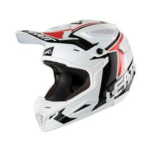 New S 55-56cm Adult Leatt GPX 4.5 V20 White Black Helmet Small Motocross Enduro