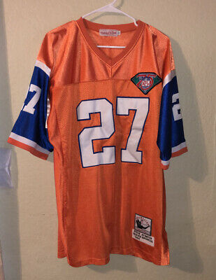 Mitchell & Ness Steve Atwater Denver Broncos 75th NFL Throwback Jersey 52 | eBay