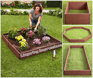 Raised Garden Bed Set Flower Vegetables Seeds Planter Kit Elevated Square Box