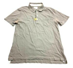 Billy-Reid-Mens-Gray-Short-Sleeve-Polo-Shirt-Size-Large
