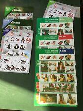 ALITALIA Team Italian Airline MD 80 SAFETY CARD 07//00 folder brochure sc835 aa