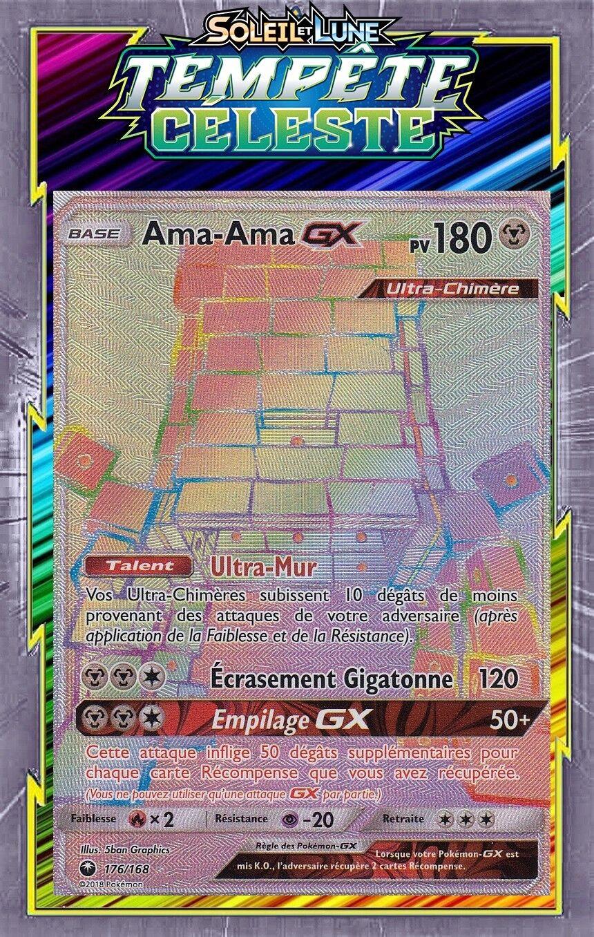 amaama gx secret  sl07:tempête celeste    176168 carte pokemon neuve fr 6dfd23