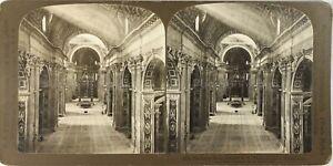 Italia Roma Cattedrale Saint-Pierre Interno Nef Foto Stereo Analogica PL62L2