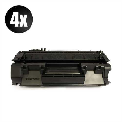 4x Eurotone ECO Patrone XXL für HP LaserJet P-2013-N P-2015-X P-2012-N P-2015-N