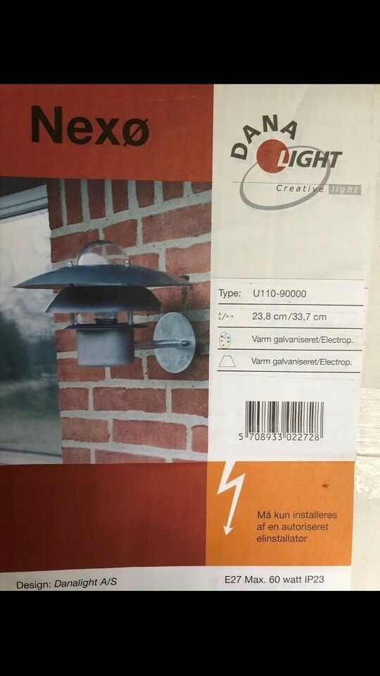 Væglampe, Dana light
