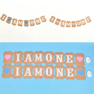 Image Is Loading I Am One Banner 1 Year Birthday Decorations