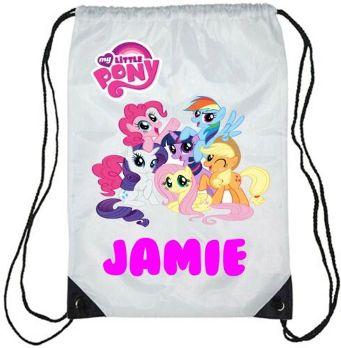 Personalised Kids My Little Pony Gym Bag School//Swimming BOY//Girls
