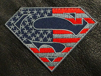 BuckUp Tactical  Patch Hook Super Hero USA Black Patches 2.75
