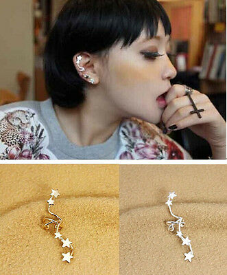 Hot New Fashion Punk Unisex Star Ear Bones Clip Cuff Earring 1PC No Puncture