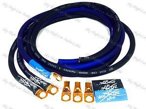 Sky-High-Oversized-4-Gauge-AWG-Big-3-Upgrade-BLUE-BLACK-Electrical-Wiring-Kit