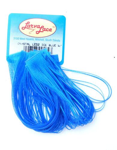 11 Farben CRYSTAL LEGZ CRYSTAL LEGZ 100 Gummibeine a´13cm Larva Lace U.S.A