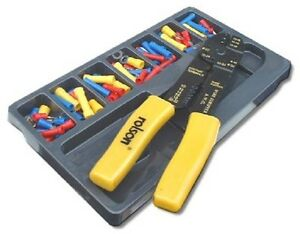 101-Electrical-Electricians-Crimper-Tool-Kit-Terminal-Set-Crimping-Wire-Cutter