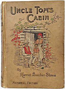 1897-UNCLE-TOM-039-S-CABIN-Slavery-1ST-ED-Civil-War-US-History-HARRIET-BEECHER-STOWE