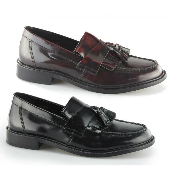 Ikon Selecta Ii Herren Leder Quaste Retro 60er Mod Penny Loafer Schuhe Poliert
