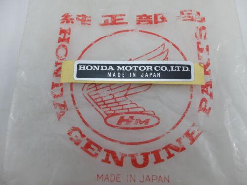 Honda Sticker Decal Label CL77 Z50 S90 CT90 CB160 CA175 CL175 QA50 ATC70
