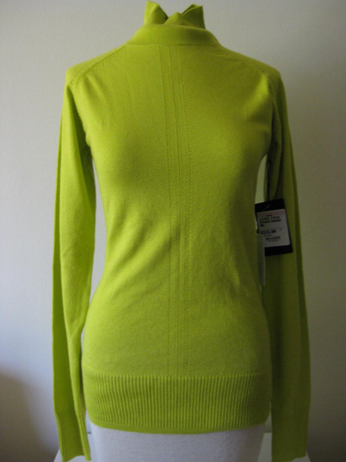 NWT L.A.M.B. T-Neck Sweater Sulphur Woherren M
