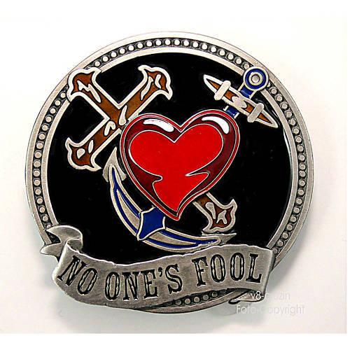 * no ones estuviese rockabilly tatuaje Flash Old School Buckle adorno en la cintura * 096