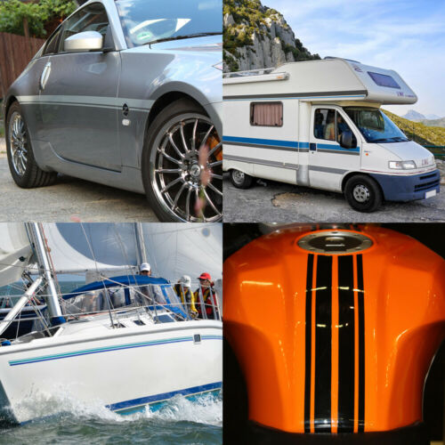 Zierstreifen 15mm 10 Meter Neon Orange Fluoreszierend Glänzend Glanz Auto Boot