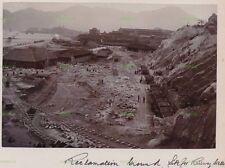 OLD HONGKONG PHOTO KOWLOON RAILWAY STATION CONSTRUCTION WORK HONG KONG C.1906