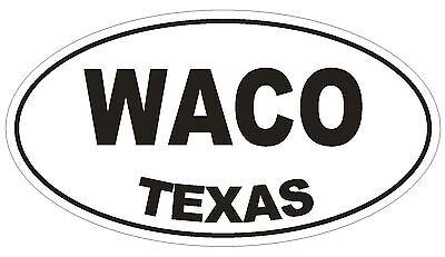 Waco Texas Oval Bumper Sticker or Helmet Sticker D1387 Euro Oval